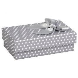 JK Box Puntíkatá krabička na soupravu šperků KK-6/A3