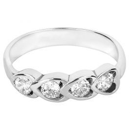 Brilio Silver Stříbrný prsten s krystaly 426 001 00371 04 - 2,22 g 48 mm