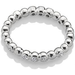 Hot Diamonds Třpytivý stříbrný prsten Emozioni ER024 56 mm