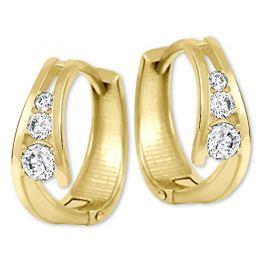 Brilio Zlaté náušnice kroužky s krystaly 239 001 00800 - 1,55 g