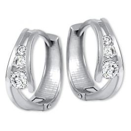Brilio Zlaté náušnice kroužky s krystaly 239 001 00800 07 - 1,55 g