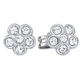 Brilio Silver Stříbrné kytičkové náušnice 438 001 01258 04 - 0,76 g