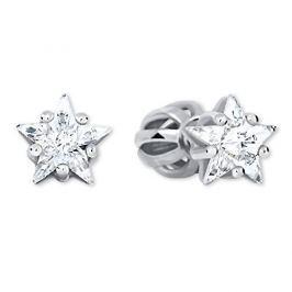 Brilio Silver Stříbrné hvězdičkové náušnice 438 001 01700 04 - 0,88 g