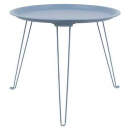 Time for home Modrý kovový odkládací stolek Torsi