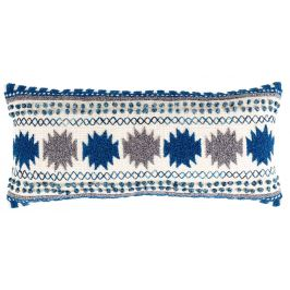 Modrý polštář ZUIVER SALA s orientálním vzorem