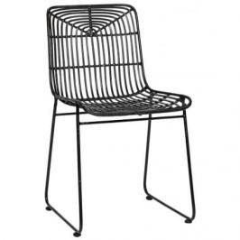 Židle Hübsch Arpy, ratan/černá