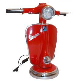 Červená kovová lampa RGE Vespa