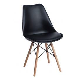 Culty Židle DSW s čalouněným sedákem, černá