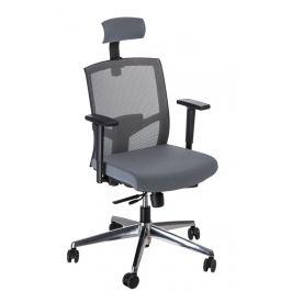 Culty Šedá kancelářská židle Darton s opěrkou