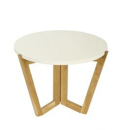 Culty Konferenční stolek Dilmar 60 cm, bílá/dub