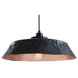 Nordic Závěsné světlo Deacon 45 cm, kov, měděná/černá