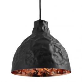 Nordic Závěsné světlo Deacon 25 cm, kov, měděná/černá