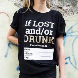 Tričko Alkohol.cz If I Lost... XL